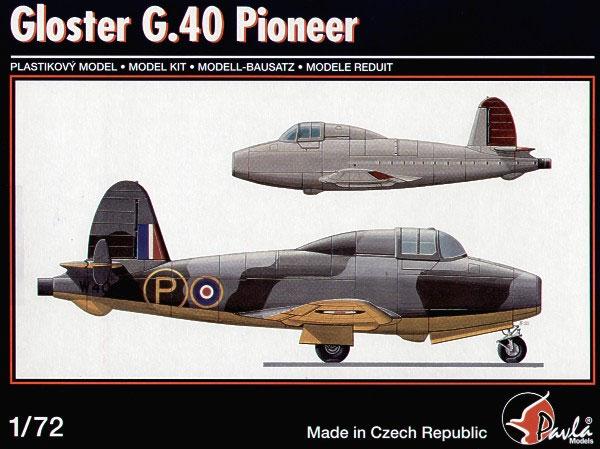 claisse - CLEAR PROP -1/72 - GLOSTER PIONEER - Un jet avec pilote FAFL, c'est pas commun! Maurice Claisse Pioneerreviewgp_box